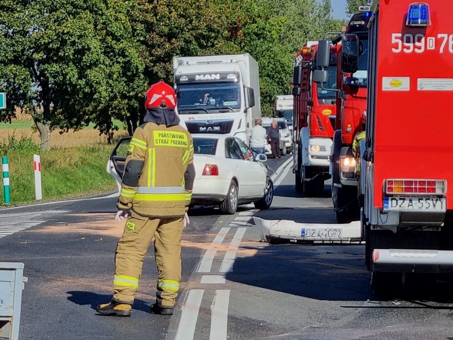 Powiat Ząbkowicki: Wypadek na krajowej ósemce - są poszkodowani - Zdjęcie główne