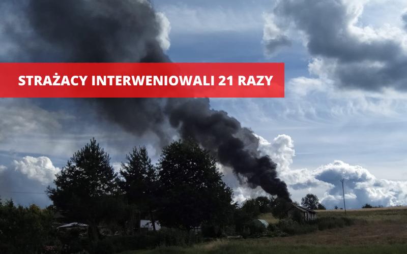 Powiat Ząbkowicki: Strażacy interweniowali ponad 20 razy - Zdjęcie główne