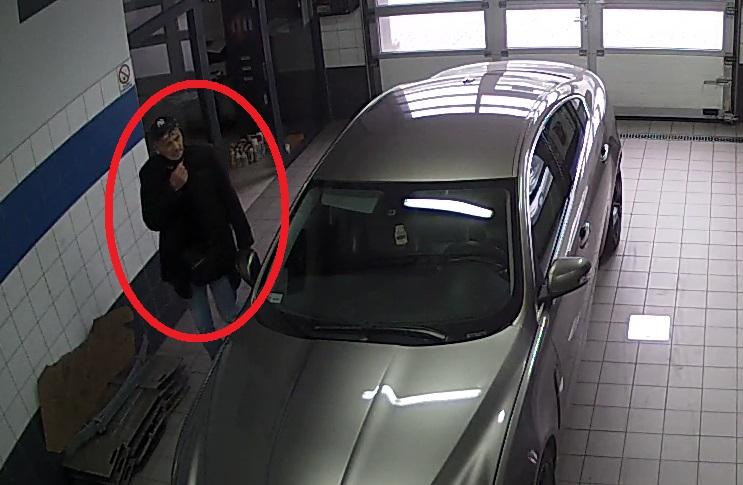 Bezczelny złodziej okradł stację diagnostyczną - Zdjęcie główne