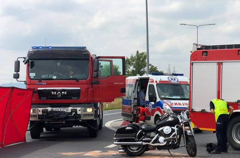 Ząbkowice Śl.: Śmiertelny wypadek z udziałem motocyklisty - Zdjęcie główne