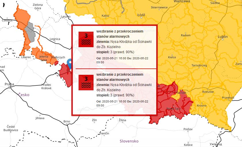 Stan ostrzegawczy w Bardzie wciąż przekroczony - Zdjęcie główne