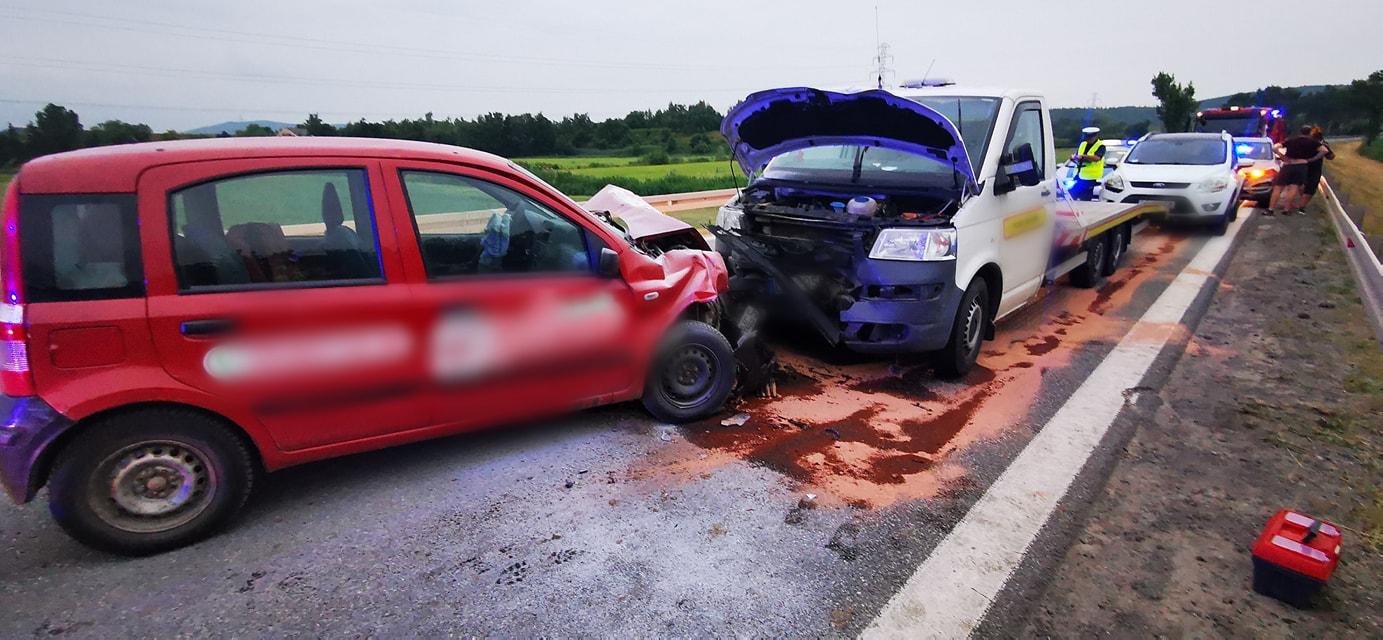 Czołowe zderzenie w Przyłęku - Zdjęcie główne