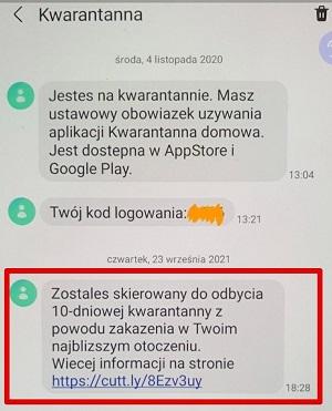 Uwaga na fałszywe SMS-y o kwarantannie - Zdjęcie główne