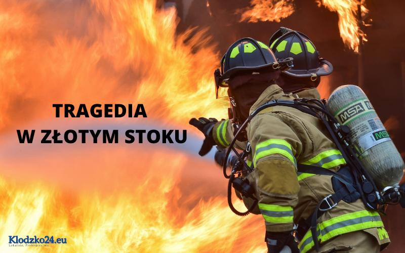 Pożar w Złotym Stoku. Nie żyje kobieta i mężczyzna - Zdjęcie główne