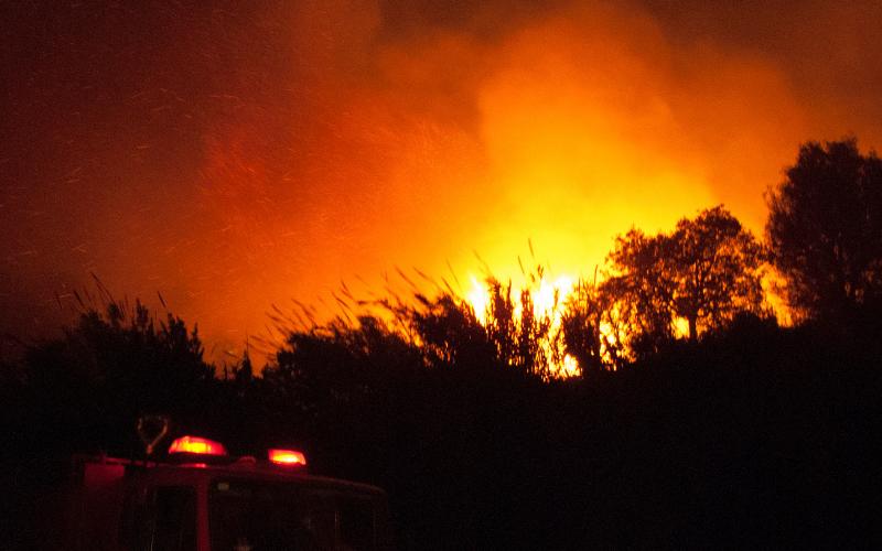 Gmina Ziębice: Pożar budynku gospodarczego - Zdjęcie główne