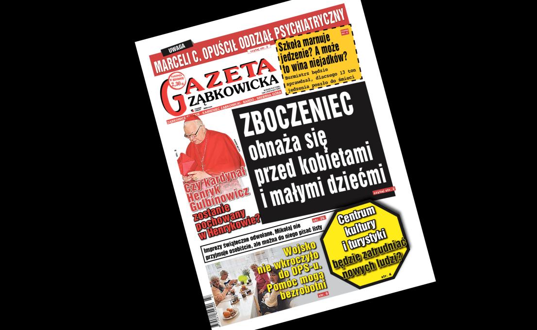 """""""Gazeta Ząbkowicka"""" z czwartku, 19 listopada  - Zdjęcie główne"""